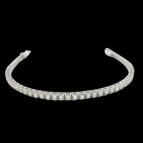 Diamond Line Bracelet 8.80cts - image 1