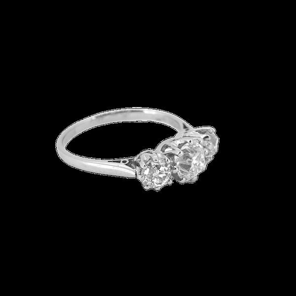 Diamond Trilogy Ring c1930 - image 1