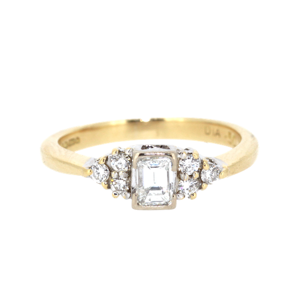 Emerald Cut Diamond Solitaire Ring. S.Greenstein - image 1