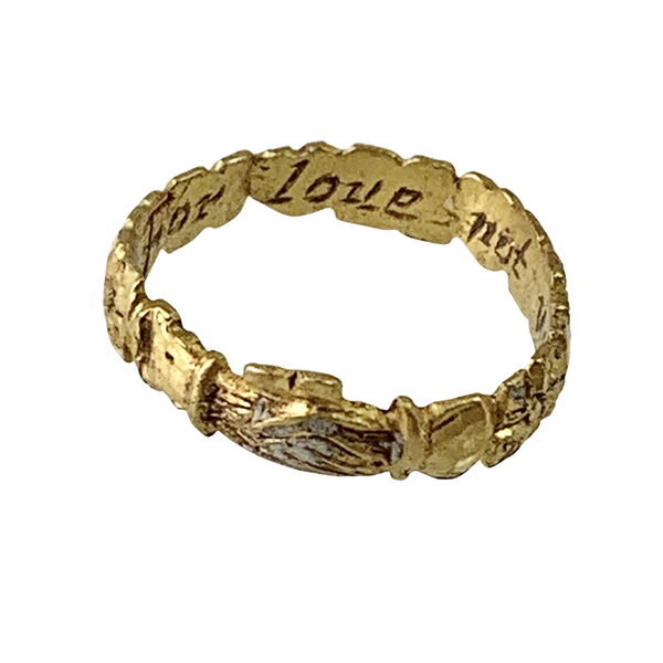 Early seventeenth century posy ring - image 1