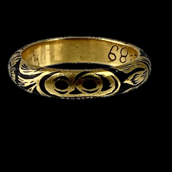 Memento mori gold ring - image 1
