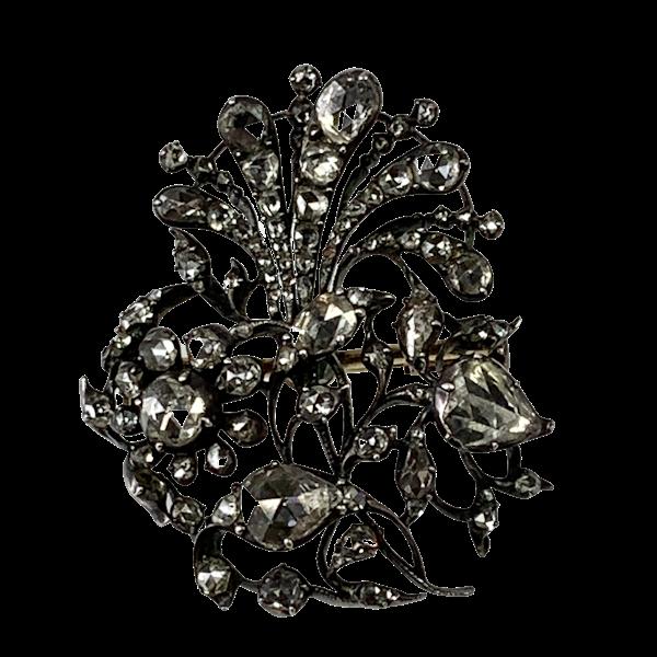 Seventeenth century diamond brooch - image 1