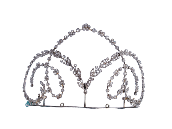 Edwardian Diamond and Platinum Tiara  DBGEMS - image 1
