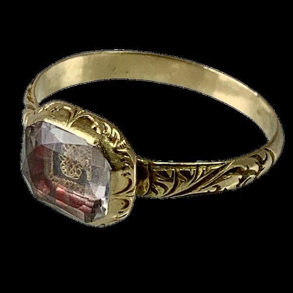 1700 Memento mori ring - image 1