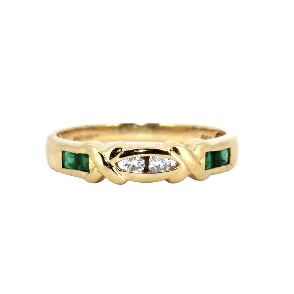 Fancy Emerald And Diamond Ring. S.Greenstein - image 1