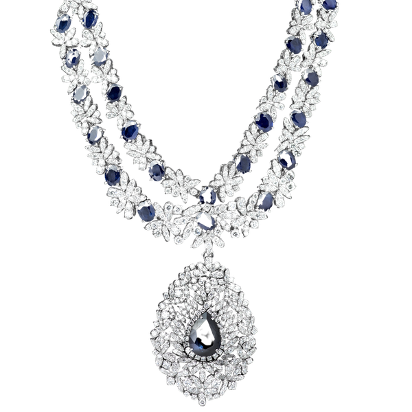 A Significant Sapphire and Diamond Necklace Offered by The Gilded Lily - image 1