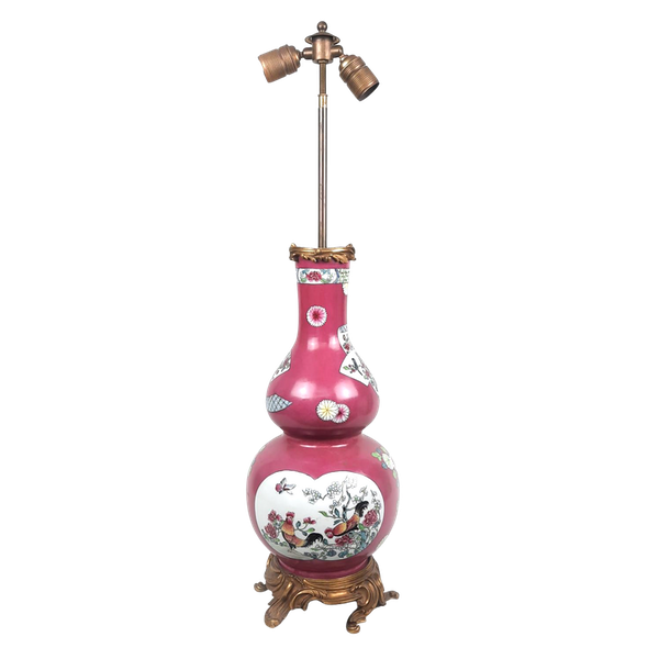 Chinese style French Samson vase converted into a lamp - image 1