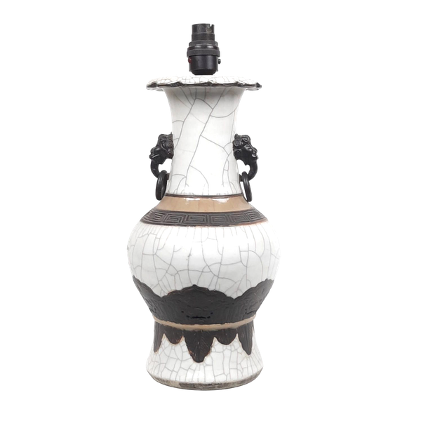 Chinese crackle glaze vase converted into a lamp - image 1