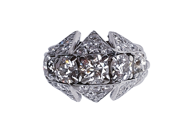 Art Deco Diamond Ring  DBGEMS - image 1