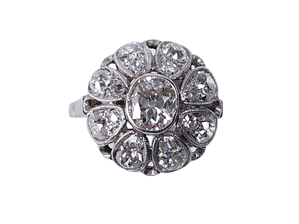 Belle Epoque Diamond Bombe Ring  DBGEMS - image 1