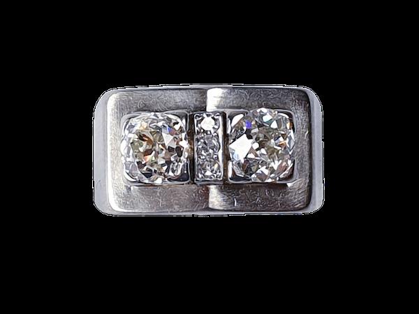 Machine age diamond ring  DBGEMS - image 1