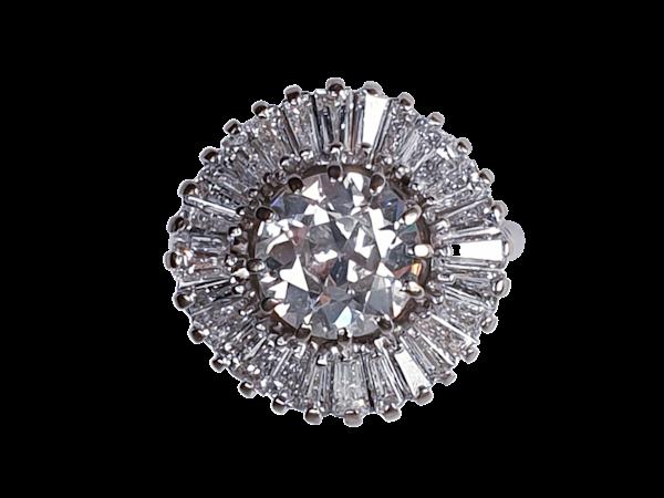 Ballerina Diamond Cluster Ring  DBGEMS - image 1