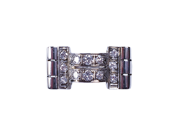 Design led 1940's diamond ring  DBGEMS - image 1