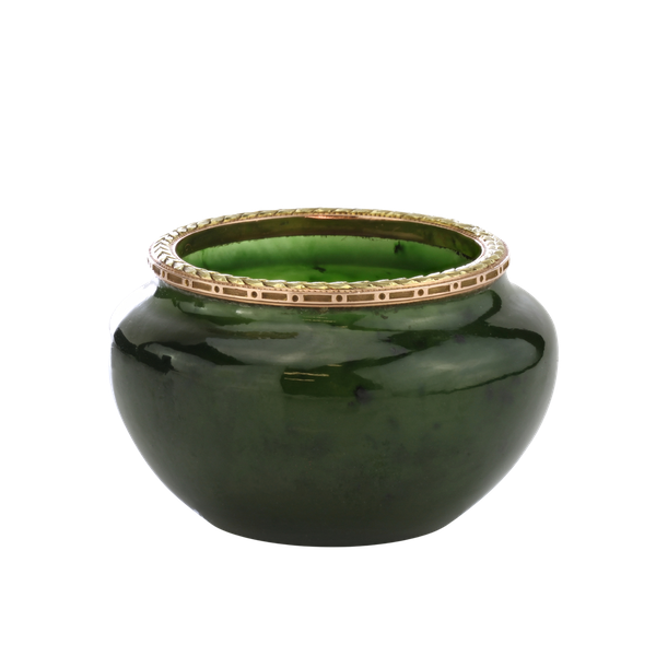 Russian Faberge gold mounted nephrite bowl, Michael Perchin, St. Petersburg 1899-1903 - image 1