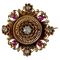 1820 gold brooch with rubies and diamonds - image 1