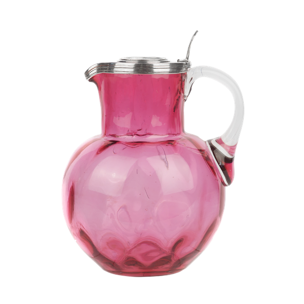 A FABERGÉ SILVER-MOUNTED RUBY GLASS JUG, WORKMASTER JULIUS RAPPOPORT, ST PETERSBURG, CIRCA 1900 - image 1