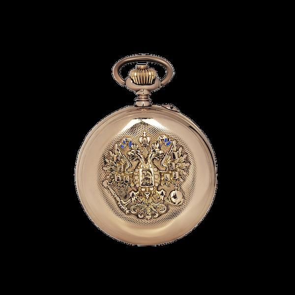 A gold Imperial presentation hunter pocket watch, Pavel Buhré, St. Petersburg, c.1900 - image 1