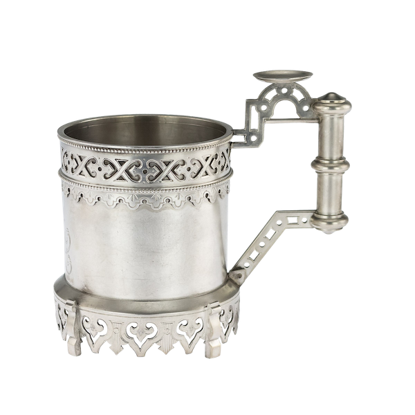 Russian silver tea glass holder, Moscow, c.1890 - image 1