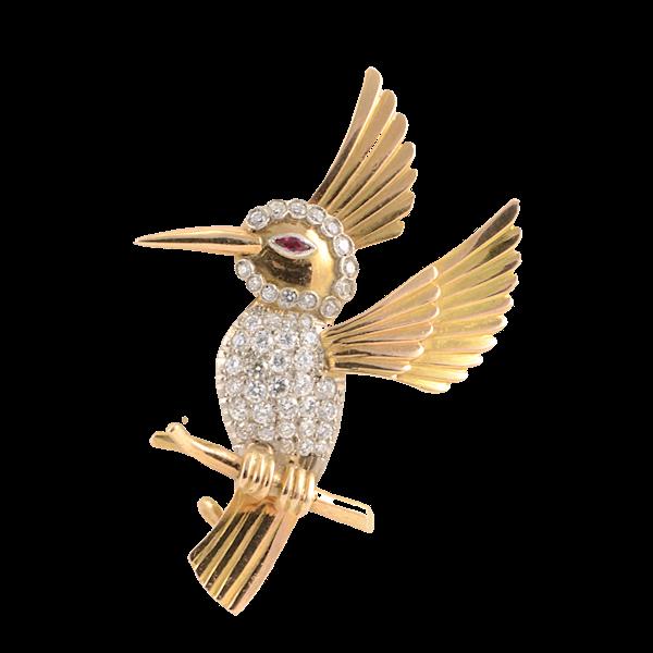 Hummingbird Brooch - image 1