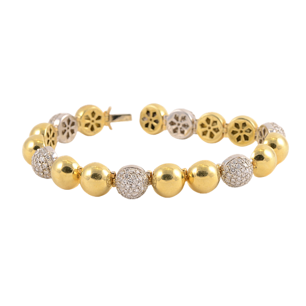 Gold and Diamond Bracelet - image 1
