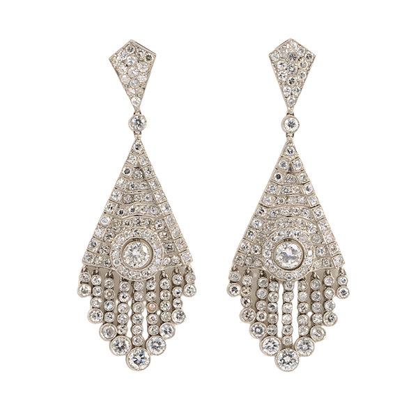 Wonderful Diamond Chandelier Earrings - image 1