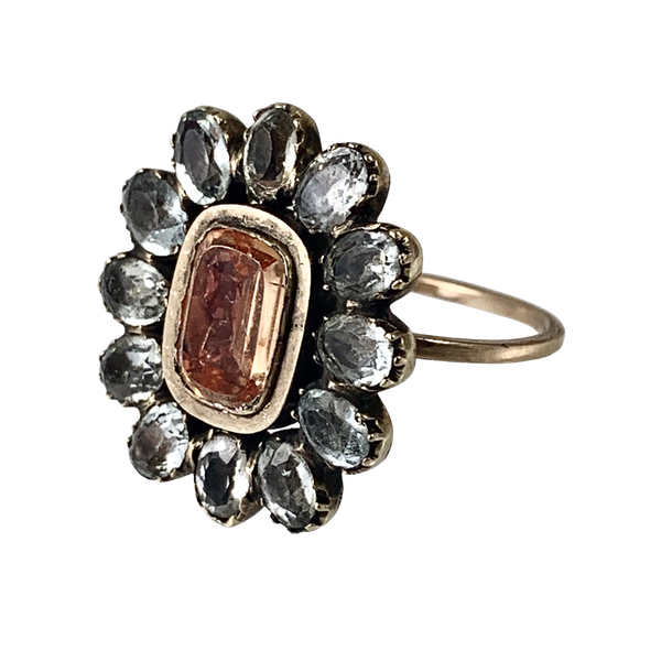 1800 topaz and paste ring - image 1