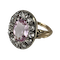 1820 ring with pink topaz and diamonds - image 1