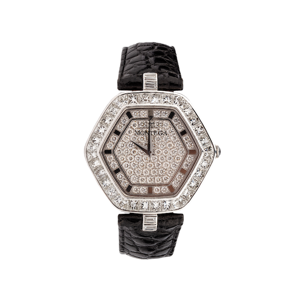 A Diamond Set Wristwatch by Mantega, offered by The Gilded Lily - image 1