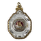 Rock crystal reliquary in gold frame - image 1