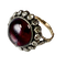 1850 ring with garnet and diamonds - image 1
