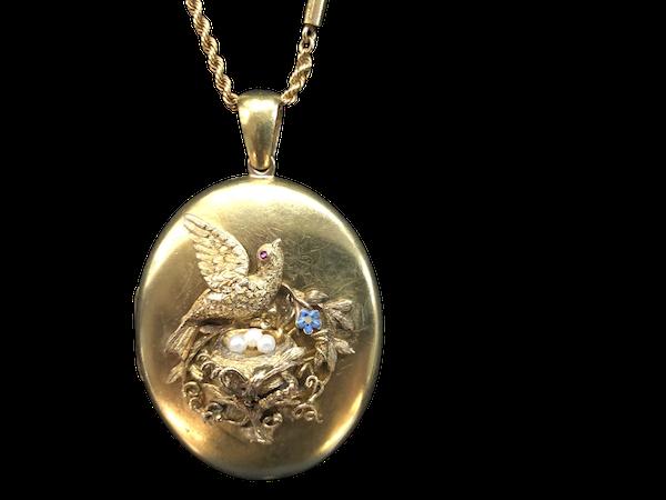 Gold Locket c/1920 - image 1