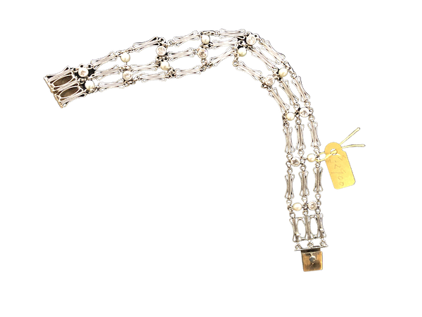 Pearl and Diamond Bracelet c/1910 - image 1