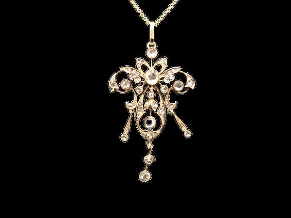 Rose Cut Diamond Pendant c/1880 - image 1