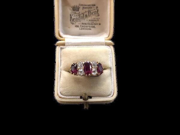 Ruby Diamond Ring c/1900 - image 1