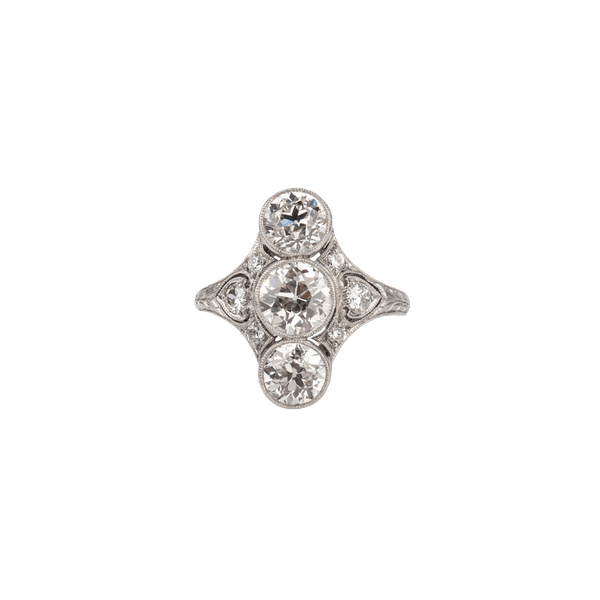 Diamond Ring on Platinum c/1910 - image 1