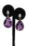 Beautiful Amethyst Pear Drop Earrings - image 1