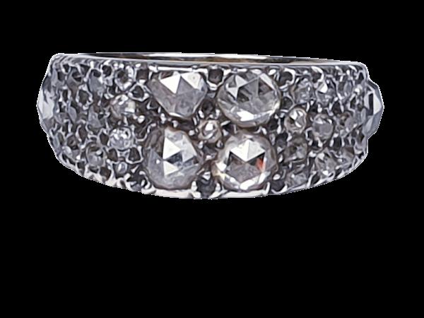 Rare Georgian old mine cut diamond and rose cut diamond ring 4615  DBGEMS - image 1