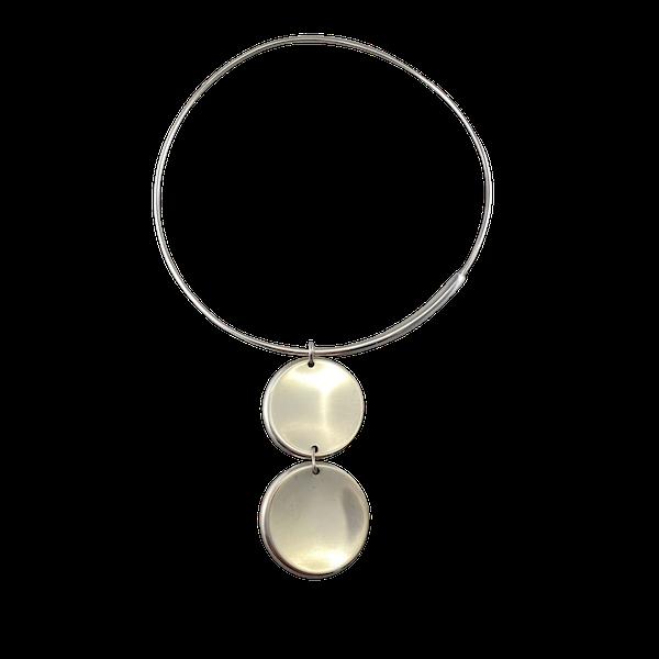 Date:2004, Georg Jensen, Silver Pendant Necklace, Design Name:ZERO ,SHAPIRO & Co since1979 - image 1