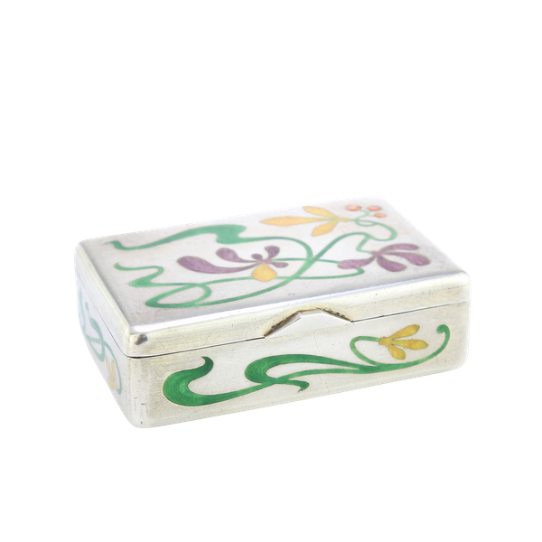 Russian silver and enamel Art Nouveau snuff box by Khlebnikov, Moscow c.1900 - image 1