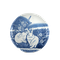 Japanese blue and white rabbit plate - image 1