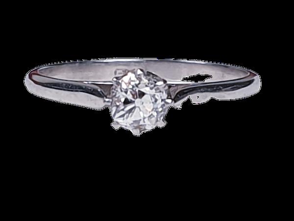 Old Cut Diamond Engagement Ring SKU: 3235   DBGEMS - image 1