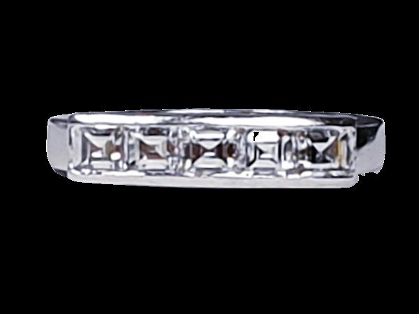 Square diamond line ring  sku 4408   DBGEMS - image 1