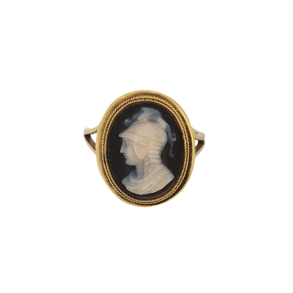 A Gold Cameo Ring - image 1