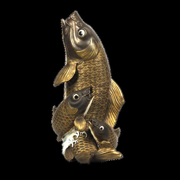 Japanese Satsuma fish vase - image 1