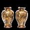Pair Japanese Satsuma Vases with gods decoration - image 1
