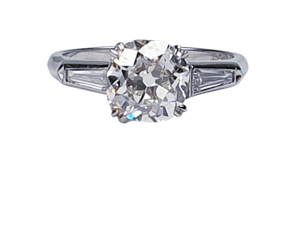 2.23ct Cushion cut diamond engagement ring 4745  DBGEMS - image 1