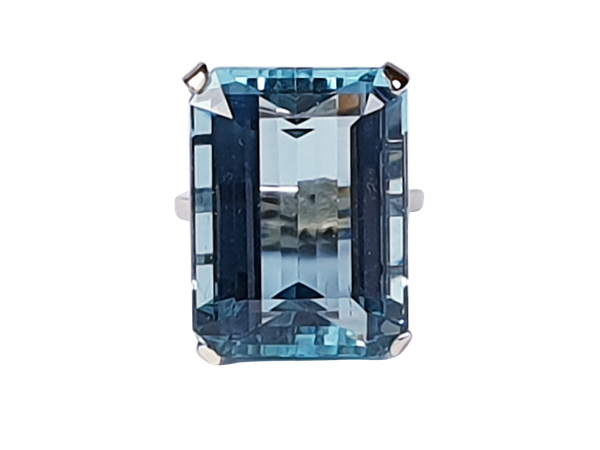 Super 30.35ct Vivid Aquamarine ring 4608  DBGEMS - image 1