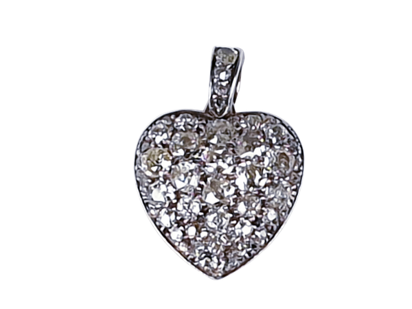 Plump Chunky diamond antique heart locket 4231  DBGEMS - image 1