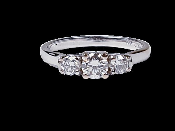 Three Stone Diamond Ring 2580  DBGEMS - image 1