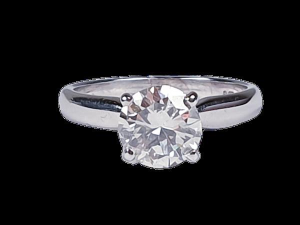 1.44ct brilliant cut diamond engagement ring 4749  DBGEMS - image 1